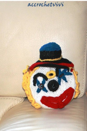 clown crochet, appareil photo